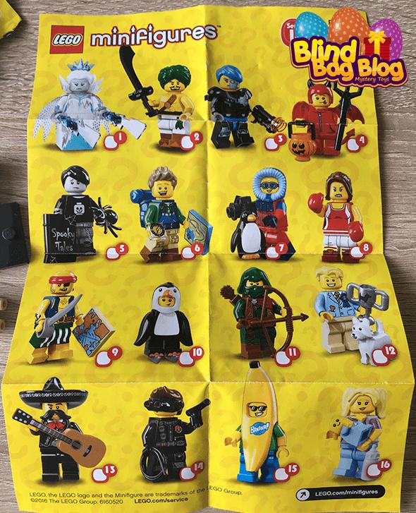 Lego Minifigures series 16 checklist