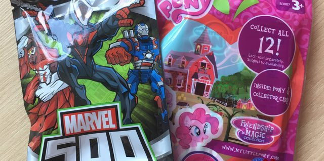 Marvel 500 series 2 and My Little Pony Friendship is Magic blind bags